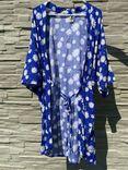 Blue Kimono - Flowers