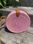 Round Ata Grass Bag Pink