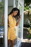 Yellow Playsuit - flowers