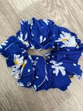 Scrunchie Blue Flowers