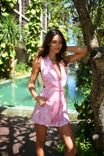 Pink Playsuit - flowers