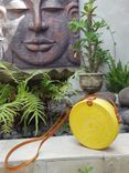 Round Rattan Bag Yellow